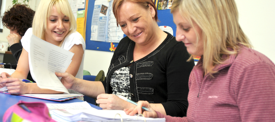 Adult Students at Accrington and Rossendale College